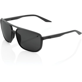 100% Konnor Aviator Square Gafas, matte black/black mirror